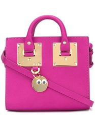 Sophie Hulme Metallic Detail Crossbody Bag Pink Purple