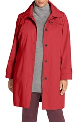 Michael Michael Kors Plus Size Women's Hooded Trench Coat Red