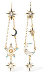 Percossi Papi Gold Plated Multi Stone Earrings One Size