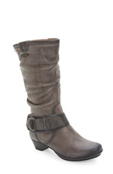 Women's Pikolinos 'Brujas 801' Tall Boot Dark Grey Leather