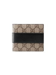 Gucci Gg Supreme Wallet Men Leather Canvas One Size Nude Neutrals