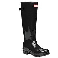 Hunter Women's Original Adjustable Rubber Wellington Boots Glossy Black