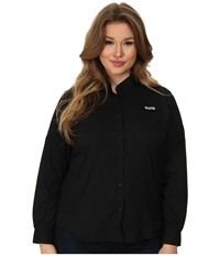 Columbia Plus Size Tamiami Ii L S Shirt Black Women's Long Sleeve Button Up