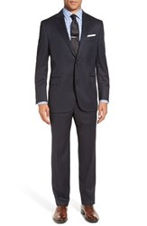 Peter Millar Men's Big And Tall 'Flynn' Classic Fit Plaid Wool Suit Charcoal