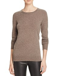 Bloomingdale's C By Crewneck Cashmere Sweater Heather Rye