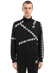 Damir Doma Lotto Zip Up Nylon Track Jacket Black