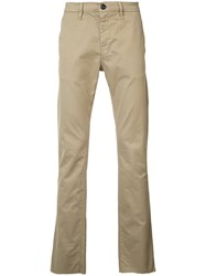 Frame Denim Chino Trousers Men Cotton Spandex Elastane 34 Brown