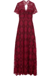 Catherine Deane Gizela Guipure Lace Gown Burgundy