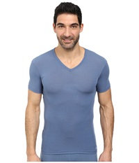 Calvin Klein Underwear Body Micro Modal S S V Neck U5563 Stormy Weather Men's Short Sleeve Pullover Clear