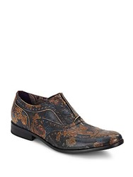Robert Graham Vanderbilt Printed Leather Wingtip Oxfords Multi
