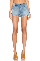 Joe's Jeans Mazie Collector's Edition The Wasteland Short Medium And Light Blue Distressed