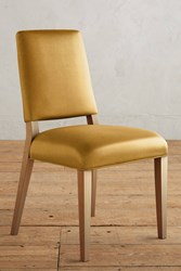 Anthropologie Premium Leather Farwood Chair Gold