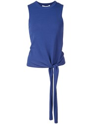 Autumn Cashmere Knot Detail Top Blue