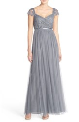 Women's Jenny Yoo 'Leighton' Off The Shoulder Lace And Tulle A Line Gown