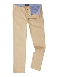 Howick Men's Slim Fit Fraternity Casual Chino Biscuit