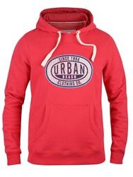 Urban Beach Sinclaire Graphic Crew Neck Pull Over Hoodie Red