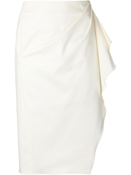Altuzarra Draped Pencil Skirt White