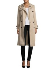 The Kooples Double Breasted Trench Coat Beige