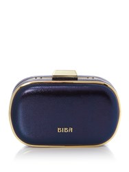 Biba Frame Box Clutch Bag Navy