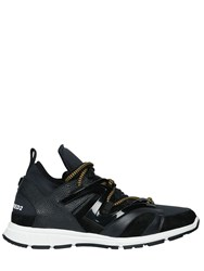 Dsquared Leather And Neoprene Bungee Jump Sneakers