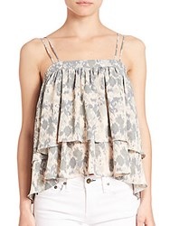 Prose And Poetry Tiered Ruffle Tank Top Pure Lilly