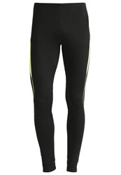 Gore Running Wear Essential Tights Black Neon Yellow