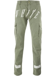 Off White 'New White' Cargo Trousers Green