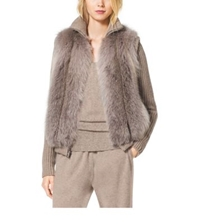 Michael Kors Fox Fur Vest Taupe