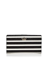 Kate Spade New York Stacy Striped Wallet Black And White Gold