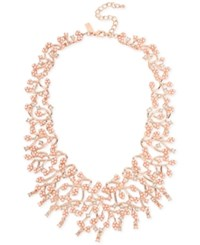 Inc International Concepts M. Haskell For Rose Gold Tone Imitation Pearl And Crystal Statement Necklace Only At Macy's