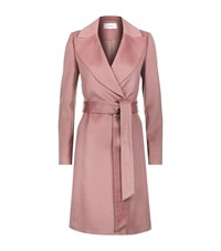 Reiss Forbes Brushed Wool Wrap Coat Female Rose