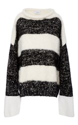 Tuinch Stripe Sweater Black White