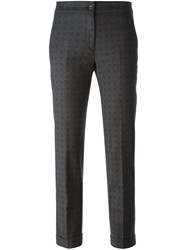Etro Printed Cropped Trousers Grey