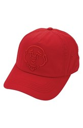 True Religion Men's Brand Jeans '3D Buddha' Baseball Cap Red True Red
