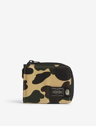 A Bathing Ape Porter 1St Camo Small Nylon Wallet Yellow Camo