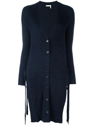 See By Chloe Side Tie Cardigan Blue