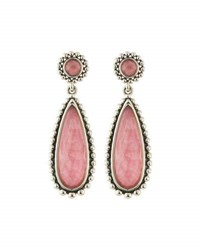 Lagos Maya Rhodochrosite Doublet Drop Earrings Pink