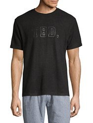 Hyden Yoo Text Graphic Tee Black Indigo