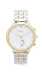 Kate Spade New York Grand Metro Smartwatch Tracker Gold Silver White