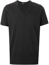 Y 3 V Neck T Shirt Black