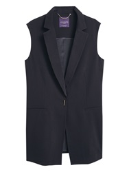 Violeta By Mango Long Boyfriend Gilet Black