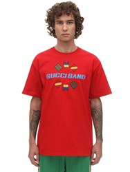 Gucci Band Cotton Jersey T Shirt Red