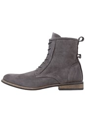 Shoe The Bear Walker Laceup Boots Dark Grey
