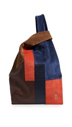 Hayward Corduroy Patchwork Shopper Sequoia Navy Red