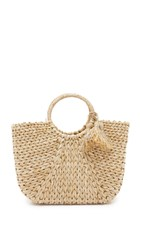 Hat Attack Round Handle Tote Natural