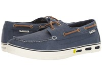 Columbia Vulc N Vent Shore Vent Boat Collegiate Navy Sea Salt Men's Shoes