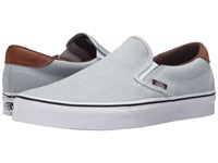 Vans Slip On 59 Oxford And Leather Blue True White Skate Shoes Gray