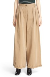 Moncler Women's Wide Leg Cotton Chino Pants
