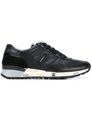 Baldinini Stamped Sole Lace Up Sneakers Men Calf Leather Leather Rubber 46 Black
