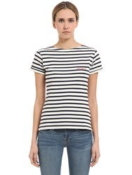 Maison Labiche Amour Embroidery Striped Jersey T Shirt